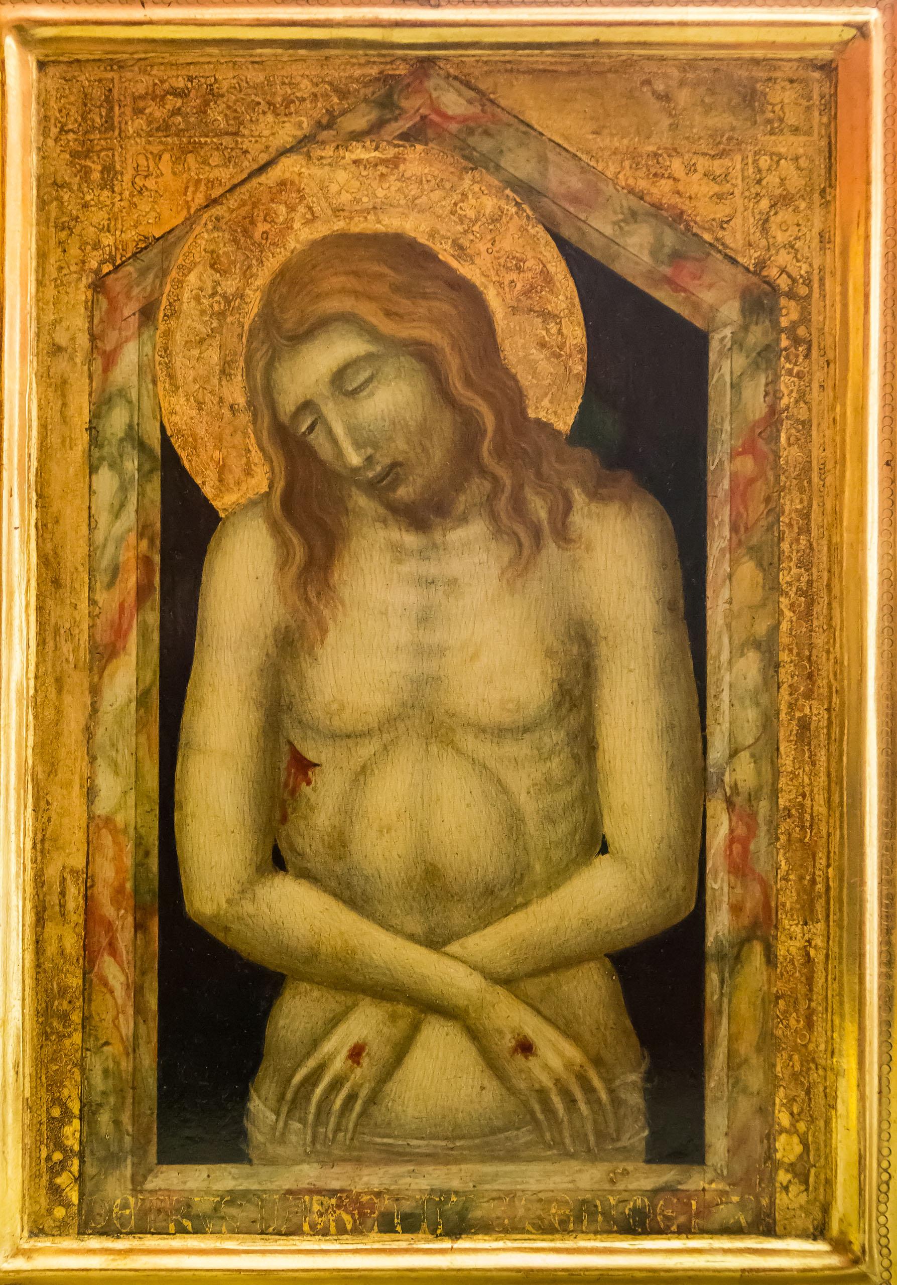 1340-45 Lorenzetti Pietro Ecce homo Lindenau Museum Altenburg