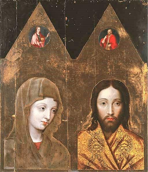 1342 Diptyque de Jean le Bon offert a Clement VI. vers 1550. copie par atelier Simon de Mailhy Musee de Pont Saint Esprit.