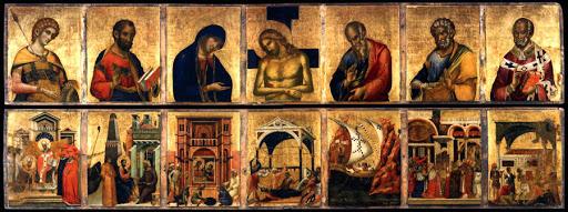 1343-45 Paolo Veneziano Pala feriale Couvercle de la Pala d'Oro Musee de San Marco venise