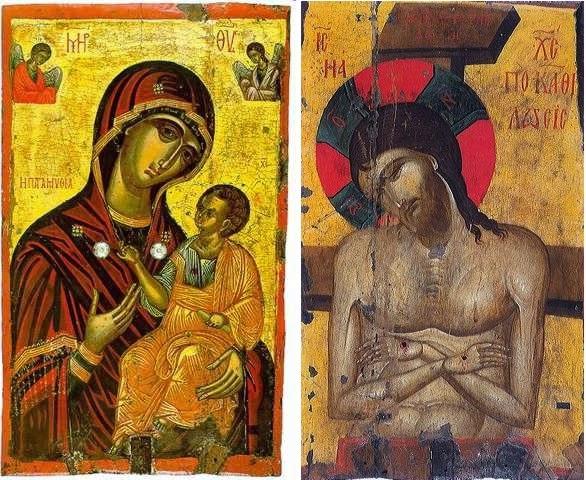 1380-1420 Icone doube face Kastoria Musee byzantin