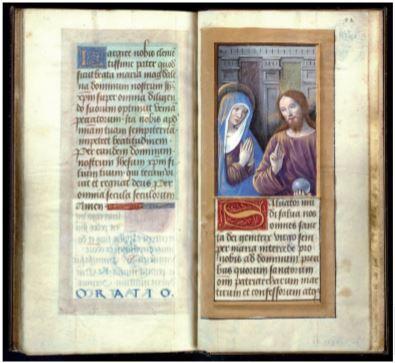 1470-75 Livre d'Heures Enlumineur tourangeau proche de Jean Bourdichon, ms . R 60732 BM Saint-Germain en-Laye