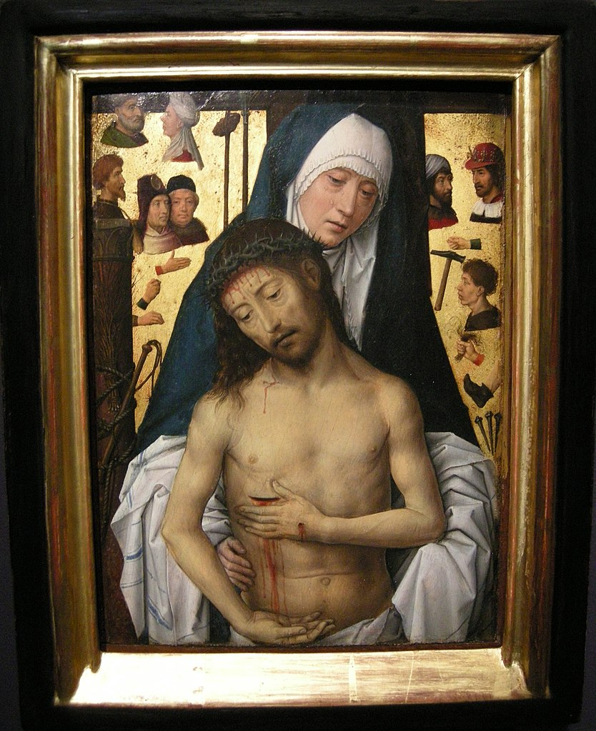 1475-79 Memling The_Man_of_Sorrows_in_the_Arms_of_the_Virgin Nationa Gallery of Victoria