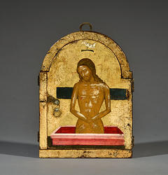 1480-1500 Triptych with the Madre della Consolazione and the Man of Sorrows, Crete, Morsink Icon Gallery, Amsterdam closed