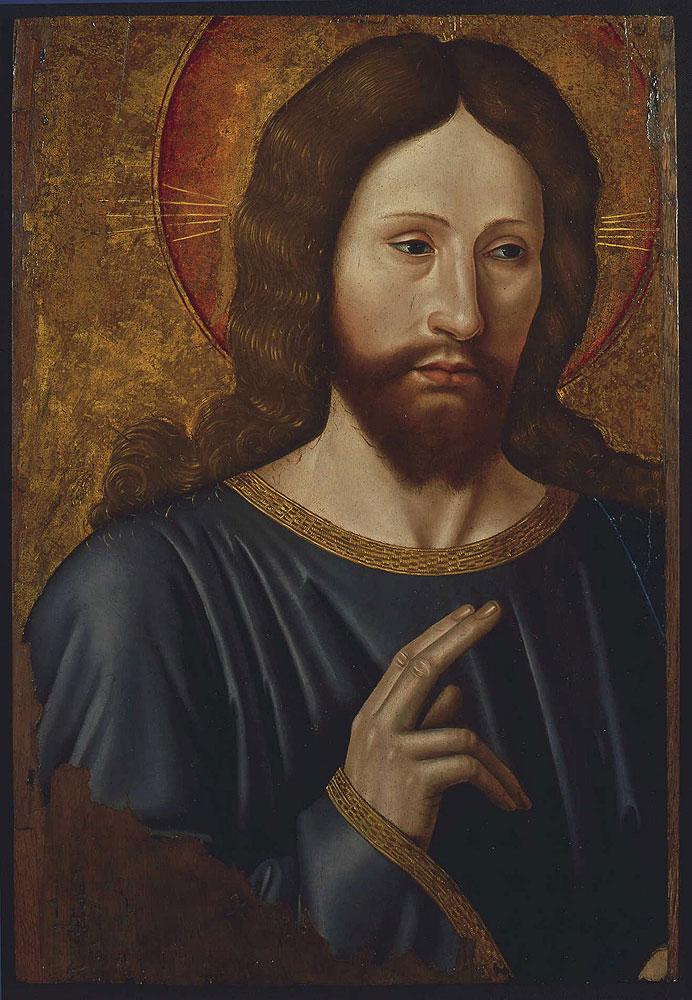 1480-85 Christ benissant Jean Bourdichon Musee des BA Tours