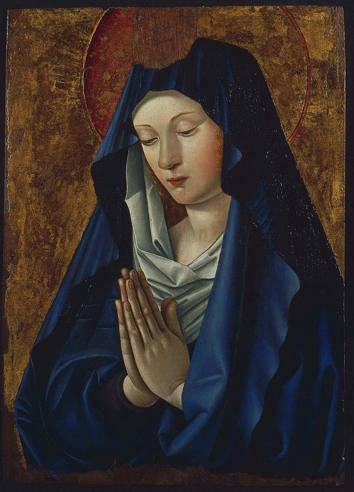 1480-85 Vierge en oraison Jean Bourdichon Musee des BA Tours
