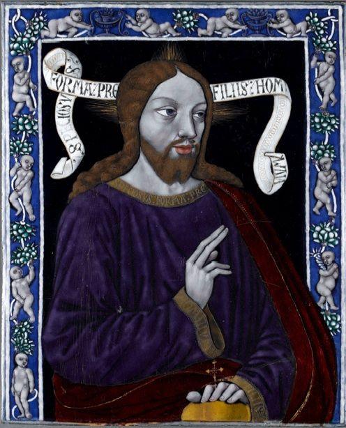 1480 ca Jean I Penicaud Christ benissant email de Limoges Musee de Cluny Paris.