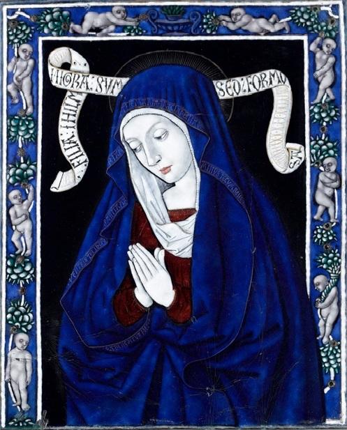 1480 ca Jean I Penicaud Vierge en oraison email de Limoges Musee de Cluny Paris.