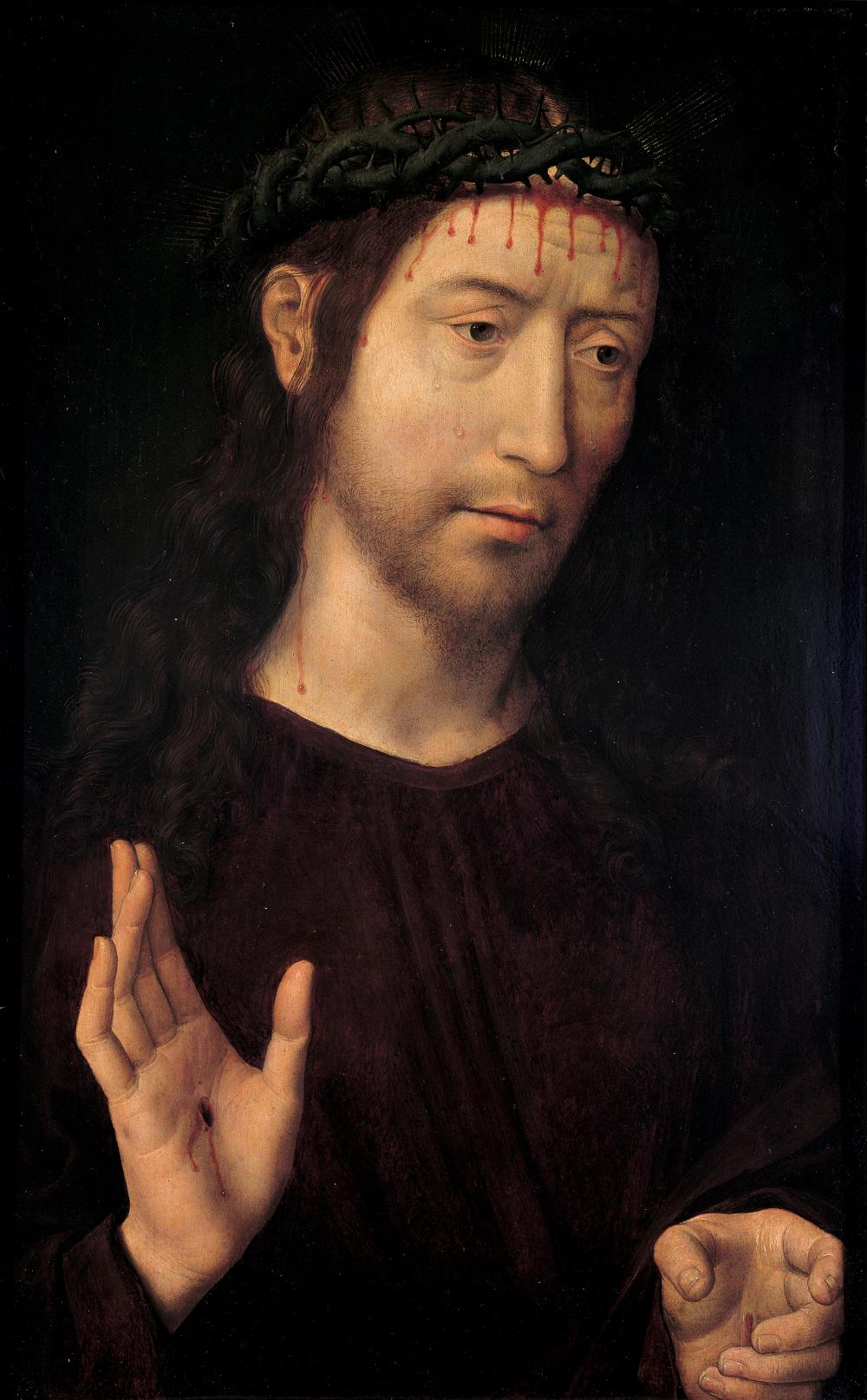 1485 Hans_memling,_cristo_benedicente,_Palazzo Bianco genova
