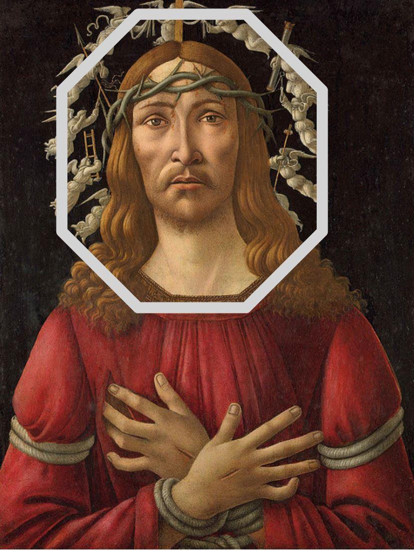 1495-1505 Botticellli Homme de douleurs coll priv schema