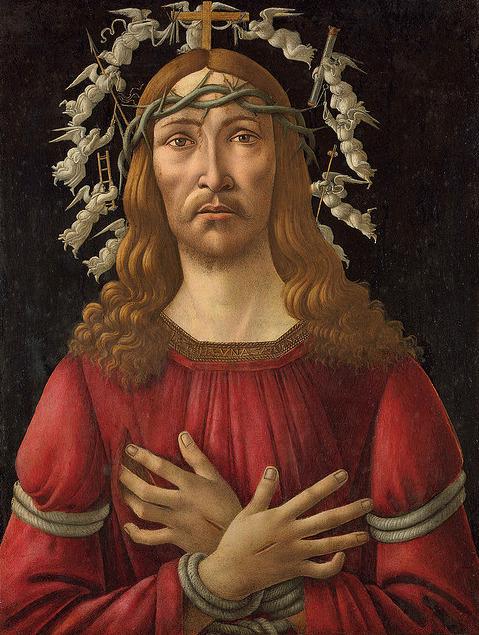 1495-1505 Botticellli Homme de douleurs coll priv
