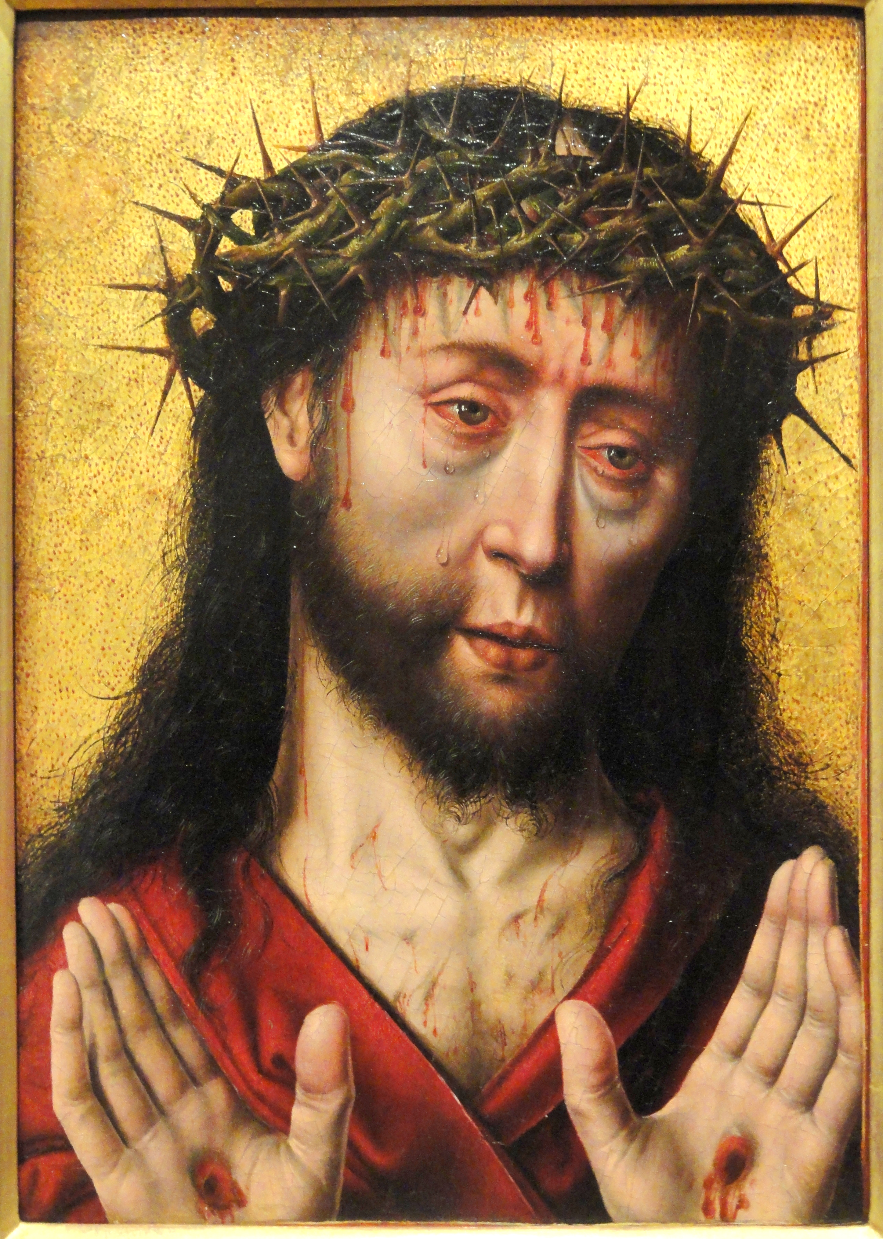 1495 ca Albrecht_Bouts, Man of Sorrows Harvard Art_Museum