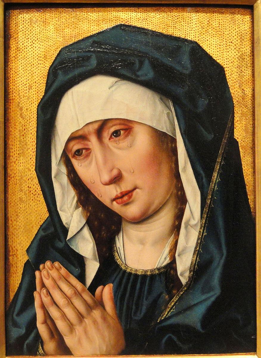 1495 ca Albrecht_Bouts, Mater_Dolorosa Harvard Art_Museum