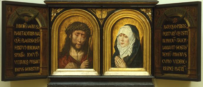 1500-1515 ALBRECHT BOUTS, ECCE HOMO MATER DOLOROSA, VERS , HUILE SUR BOIS, SUERMONDT-LUDWIG-MUSEUM, AACHEN