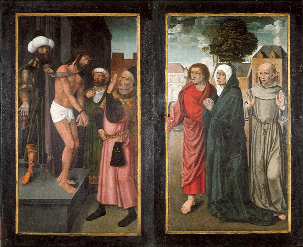 1500-25 Maitre du Saint Sang Glorification Vierge Ara Coeli, Madonne avec Sybilles, Saint Jean Patmos, Saint-Jacques Bruges ferme