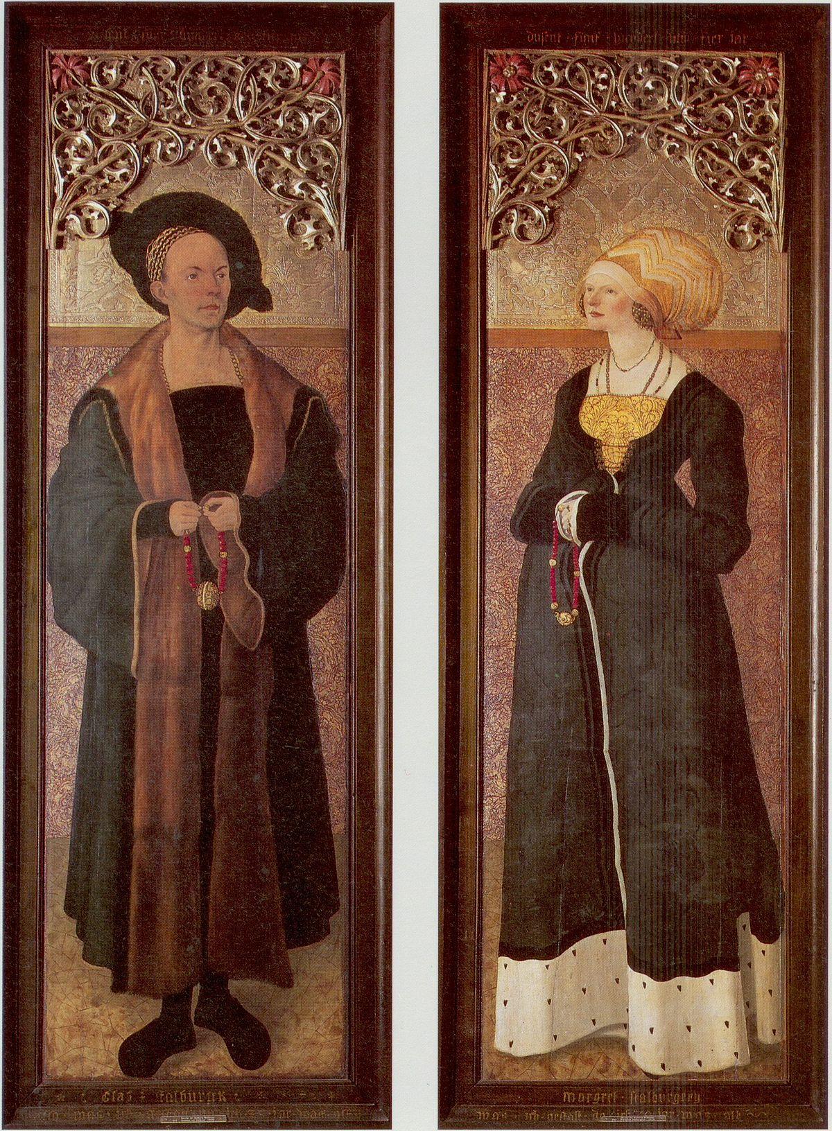 1504 meister-der-stalburg-bildnisse- Claus Stalburg et epouse Margarethe vom Rhein