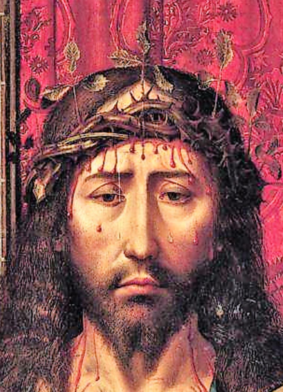 1505-15 Colijn de Coter Man od Sorrows coll priv detail.