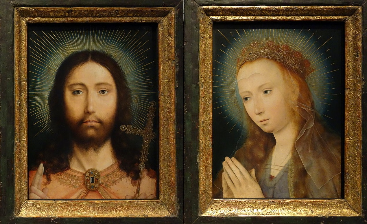 1505 ca Christ_as_Salvator_Mundi_and_MaryQuinten_Massijs Royal Museum of Fine Arts Antwerp inverse