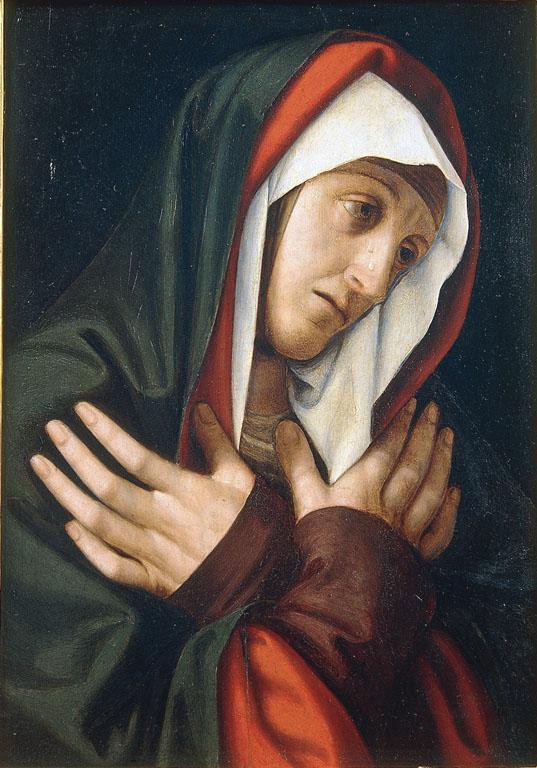 1507-09 Mailly Simon de detto Simon de Chalons Dolorosa galleria Borghese copie solario