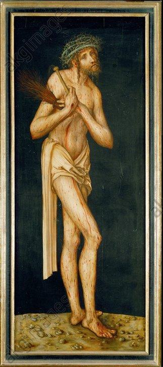 L.Cranach d.Ä., Schmerzensmann - Man of Sorrows / Cranach th.E./c.1510/20 -