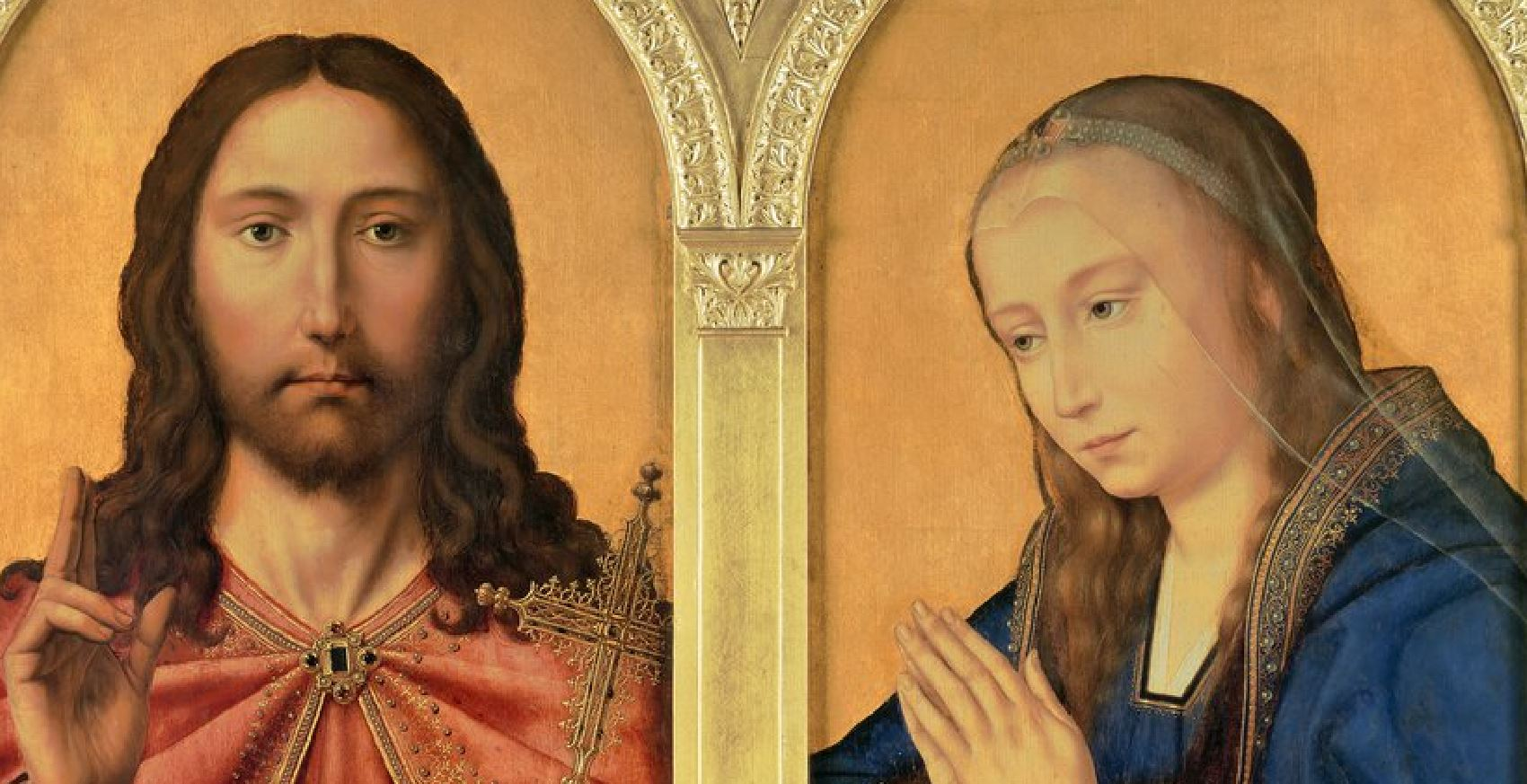 1510-25 CHRIST AND THE VIRGIN atelier QUENTIN MASSYS National Gallery detail