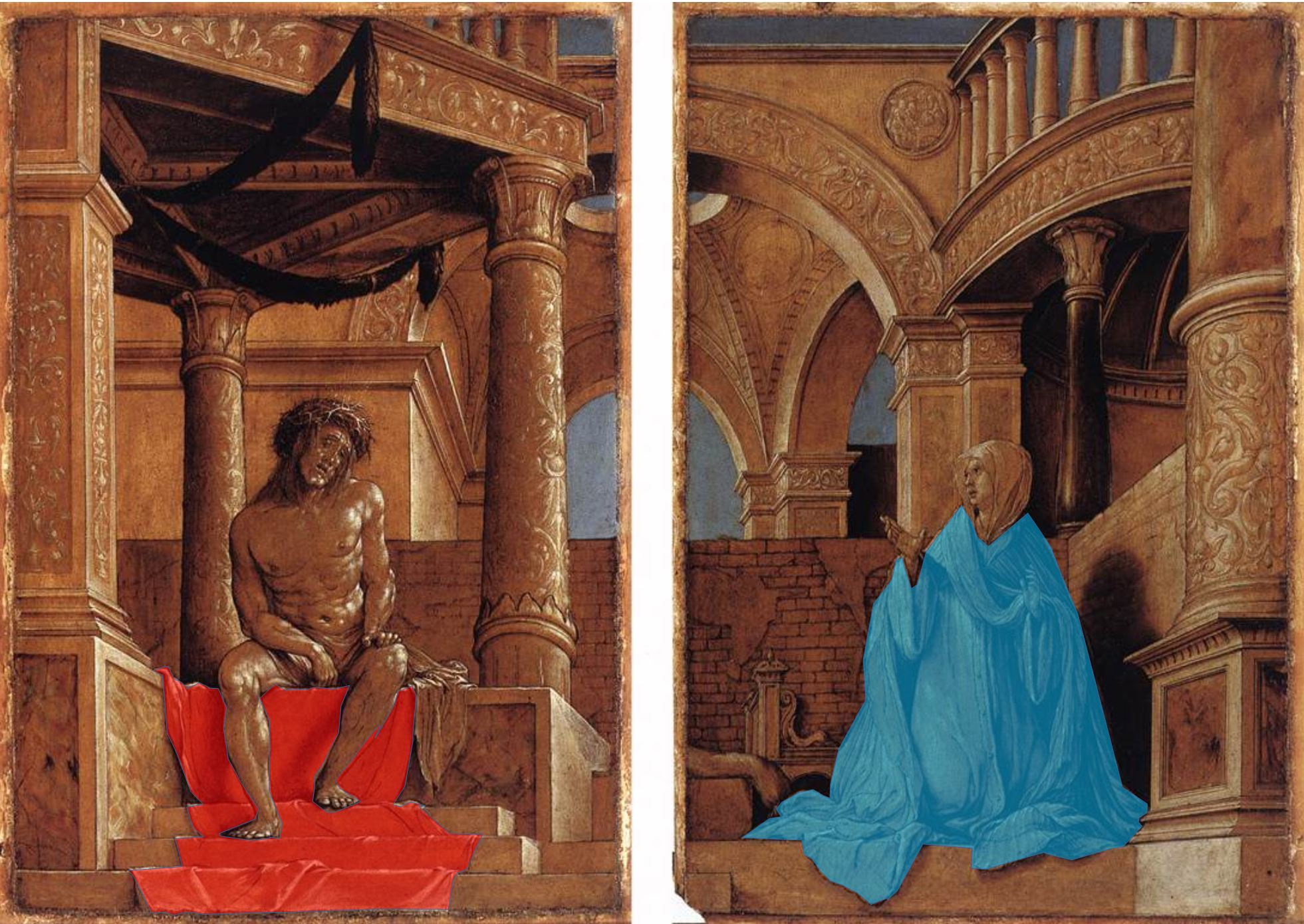 1521 hans-holbein diptych-with-christ-and-the-mater-dolorosa Kunstmuseum, Offentliche Kunstsammlung, Basel schema