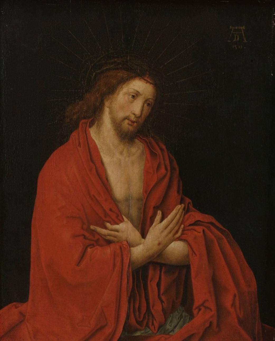 1522 ca copy after Lucas van Leyden, Christ as the Man of Sorrows, 1557-1600 Rijksmuseum