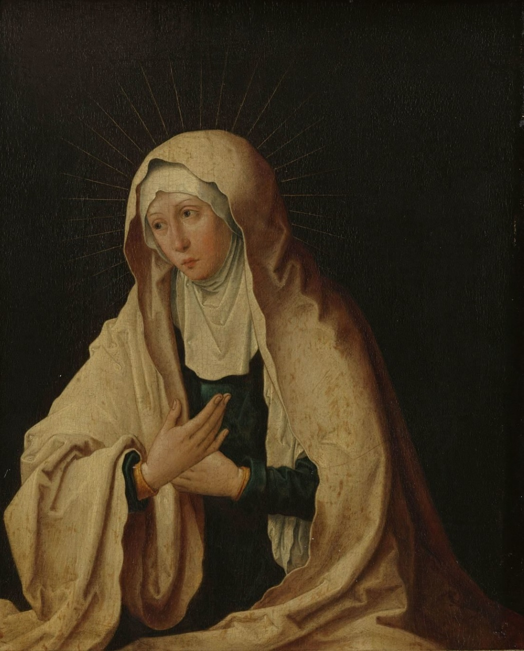 1522 ca copy after Lucas van Leyden, Dolorosa 1557-1600 Rijksmuseum)