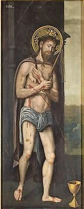 1525-30 Lucas Cranach der Altere atelier Kulturhistorisches Museum Magdeburg au dos d'un St Sebastien