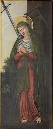 1525-30 Lucas Cranach der Altere atelier Marie Kulturhistorisches Museum Magdeburg au dos d'un St Paul