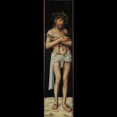 1540 ca Lucas_Cranach_der_AltereAschaffenburg_031_Schloss_Johannisburg,_Staatsgalerie Homme de douleurs