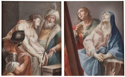 1700 ca austrian-school ecce-homo-(+-maria-und-johannes-beim-kreuz