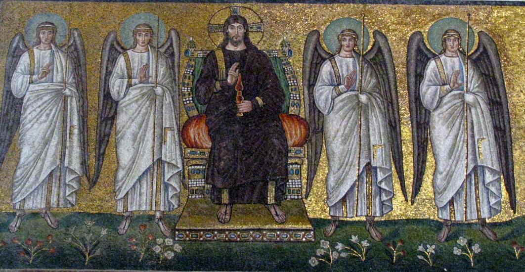 526 Christ entre quatre anges Saint Appolinaire le neuf Ravenne