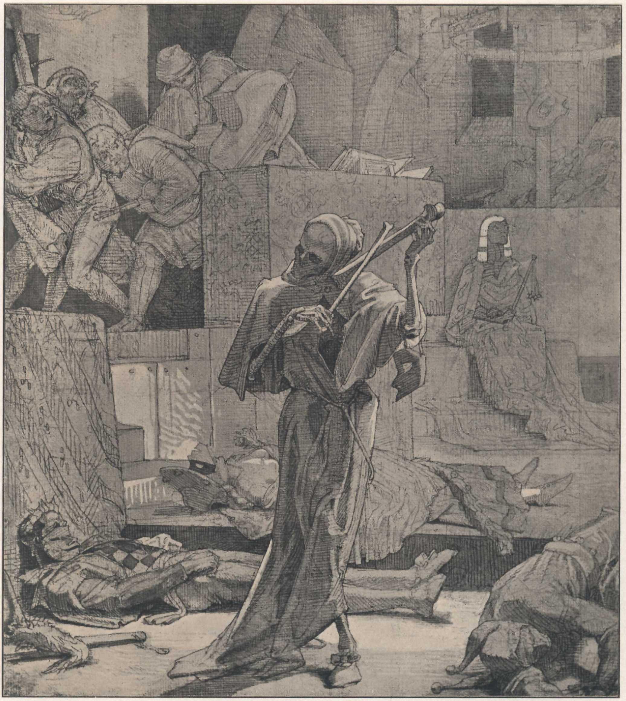Alfred Rethel 1847 La Mort comme etrangleur Tod als Erwurger