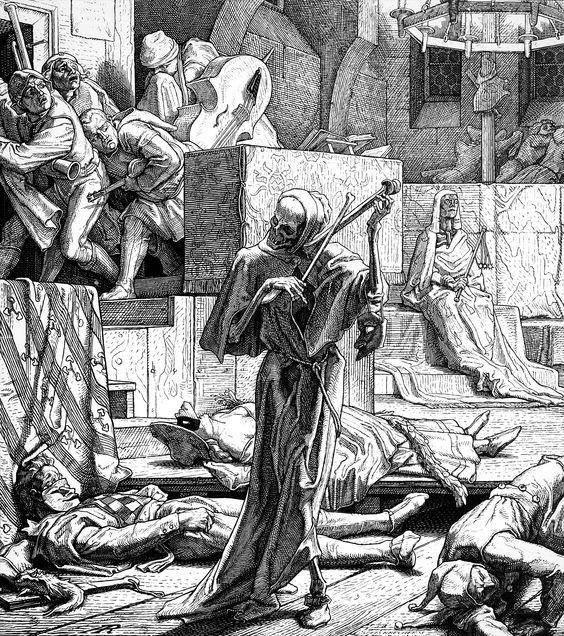 Alfred Rethel 1851 La Mort comme etrangleur Tod als Erwurger