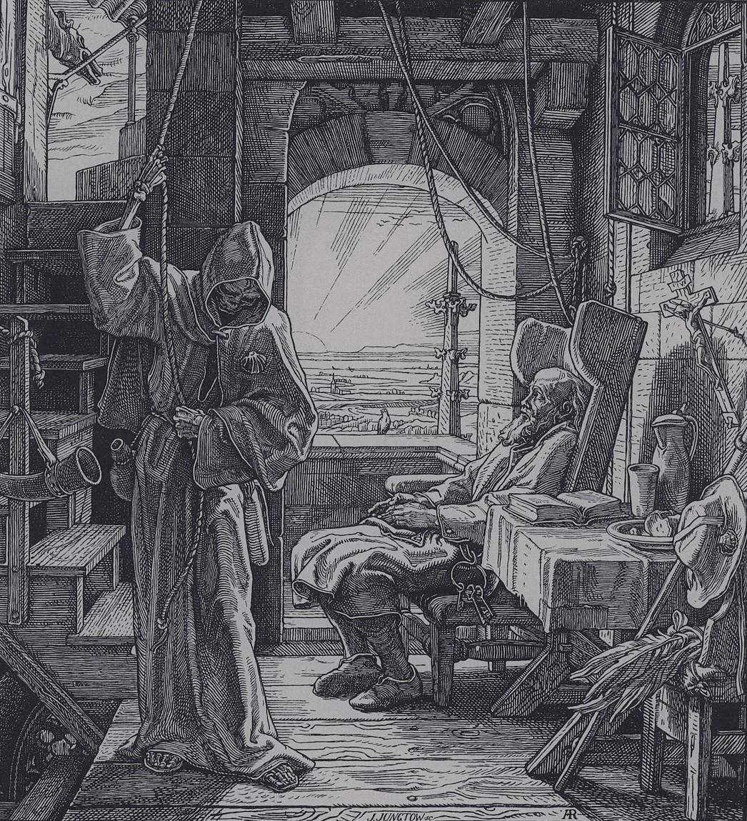 Alfred_Rethel 1851 La Mort comme Amie Tod als Freund