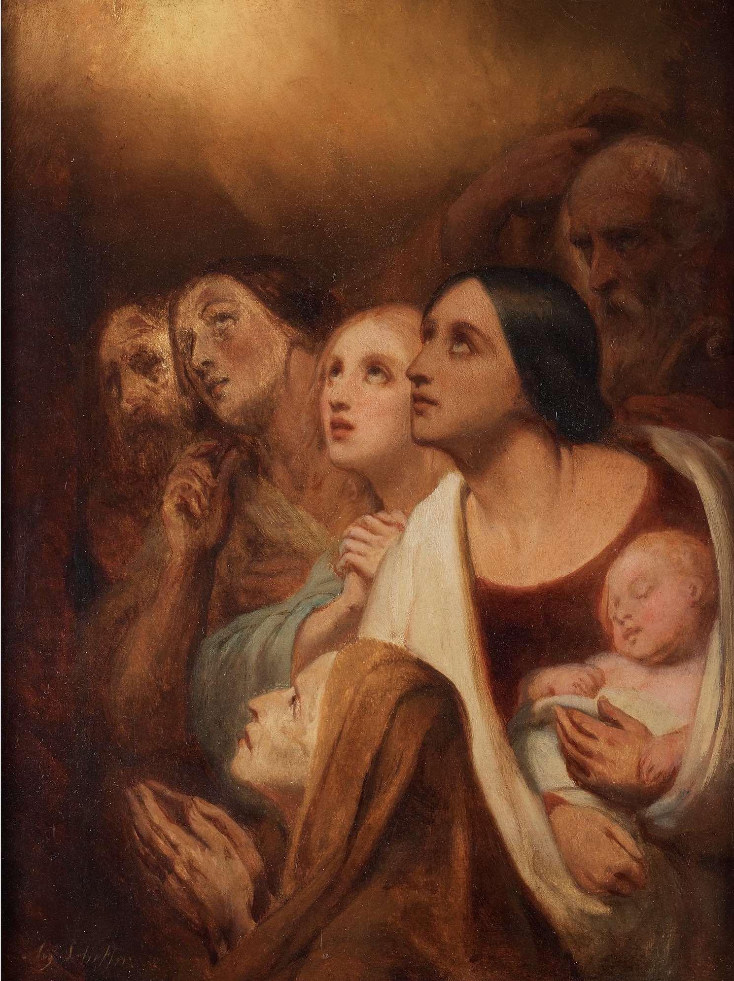 Ary Scheffer L'Annonce aux bergers Musee de la Vie Romantique Paris, 34,5 x 24 cm