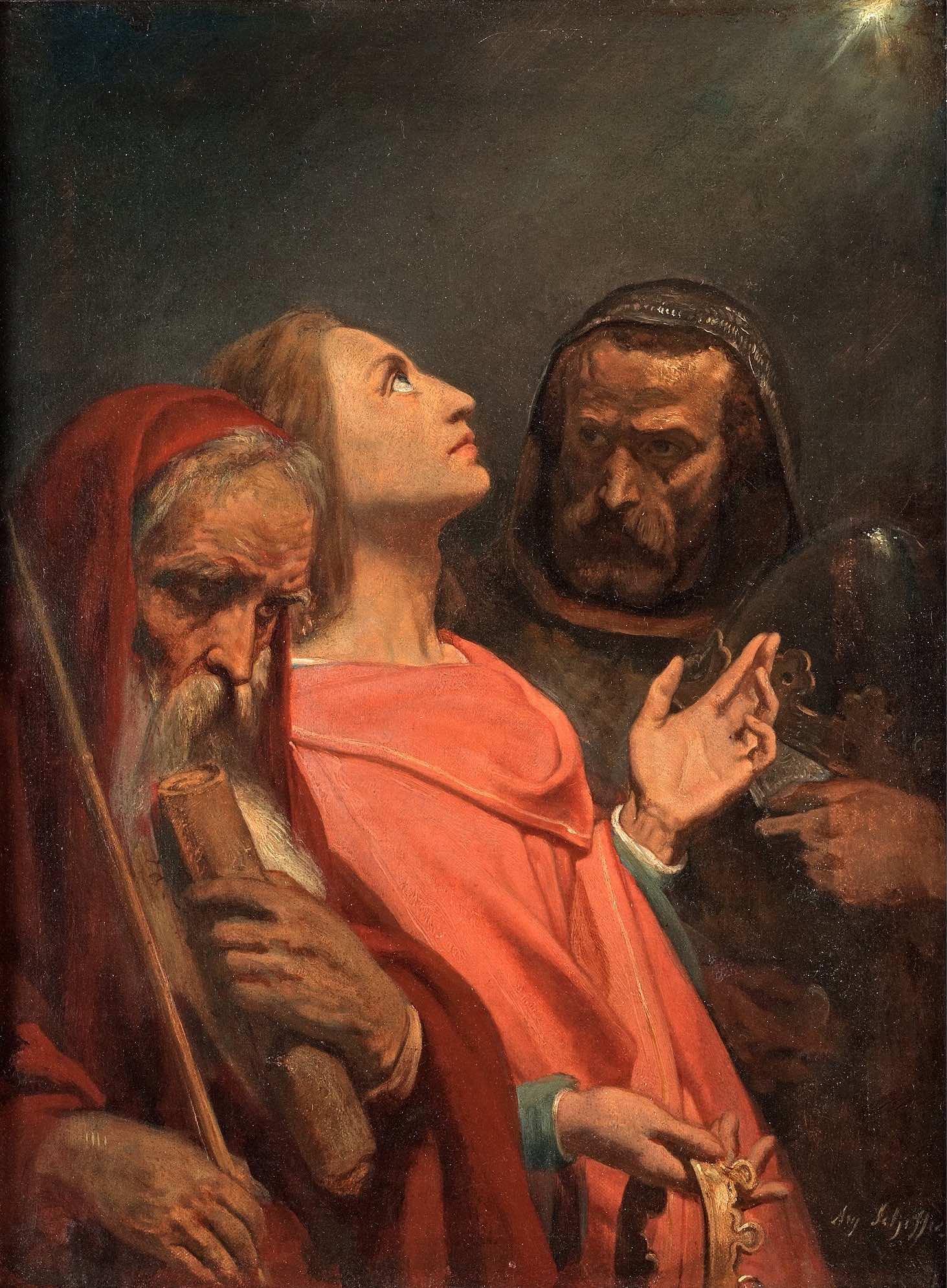 Ary Scheffer Les Rois Mages Musee de la Vie Romantique Paris, 34,5 x 24 cm