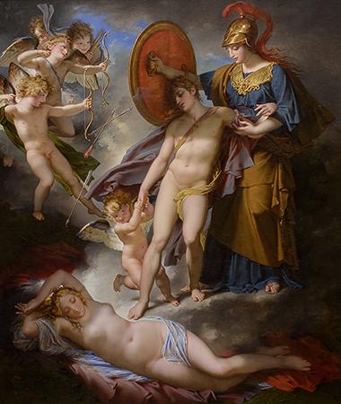 Charles Meynier 1810 La Sagesse preservant l'Adolescence des traits de l'Amour Musee des Beaux Arts du Canada 2