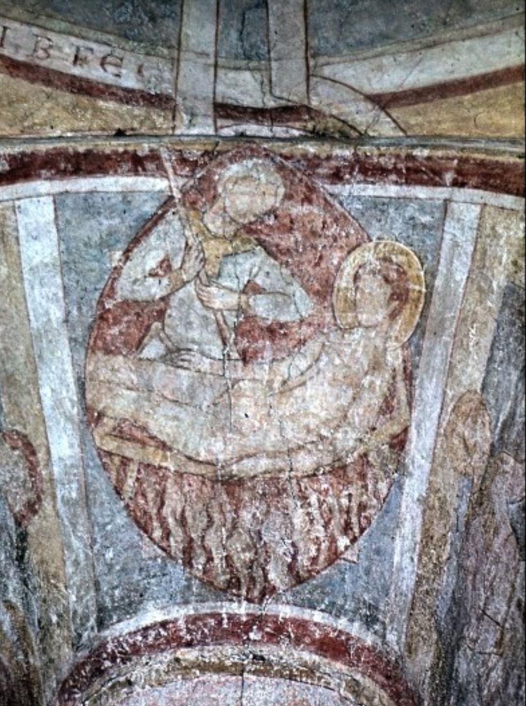 Coupole avec huit anges et 24 vieillards 1146-55 allerheiligen kapelle regensburg martyr