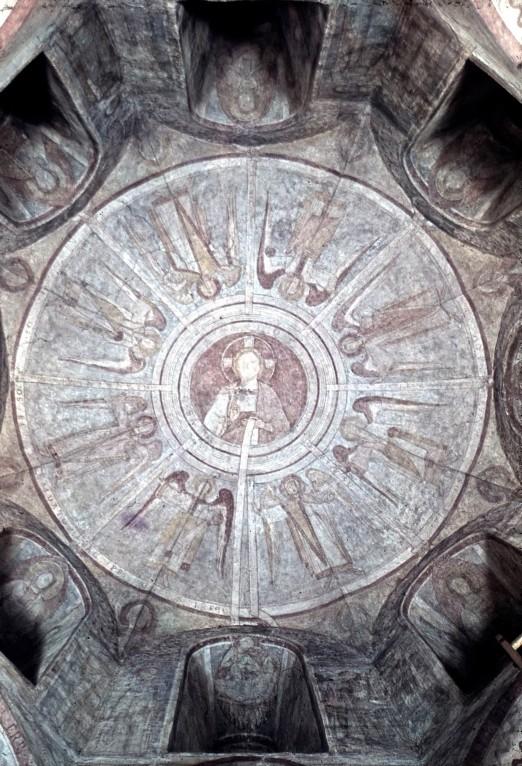 Coupole avec huit anges et 24 vieillards 1146-55 allerheiligen kapelle regensburg