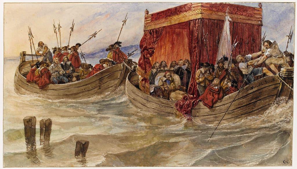 Delaroche 1828 Etude pour Richelieu remontant le Rhone Departement des Arts graphiques Louvre