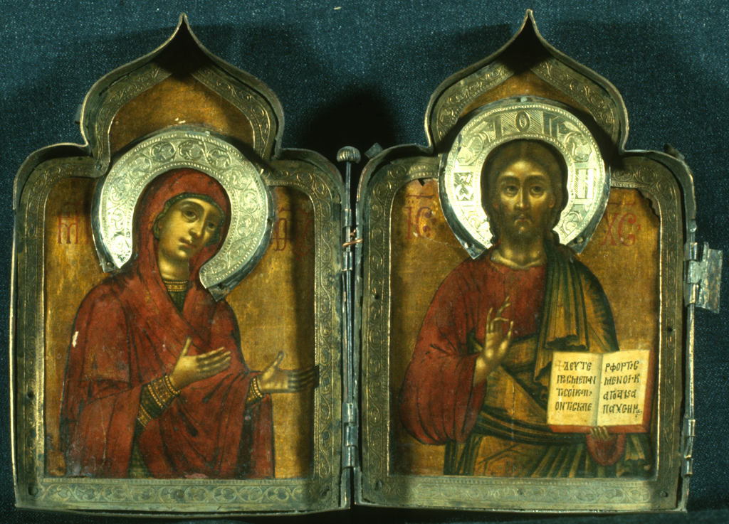 Diptych with Virgin Hagiosoritissa and Christ, Sinai Icon Collection princeton university