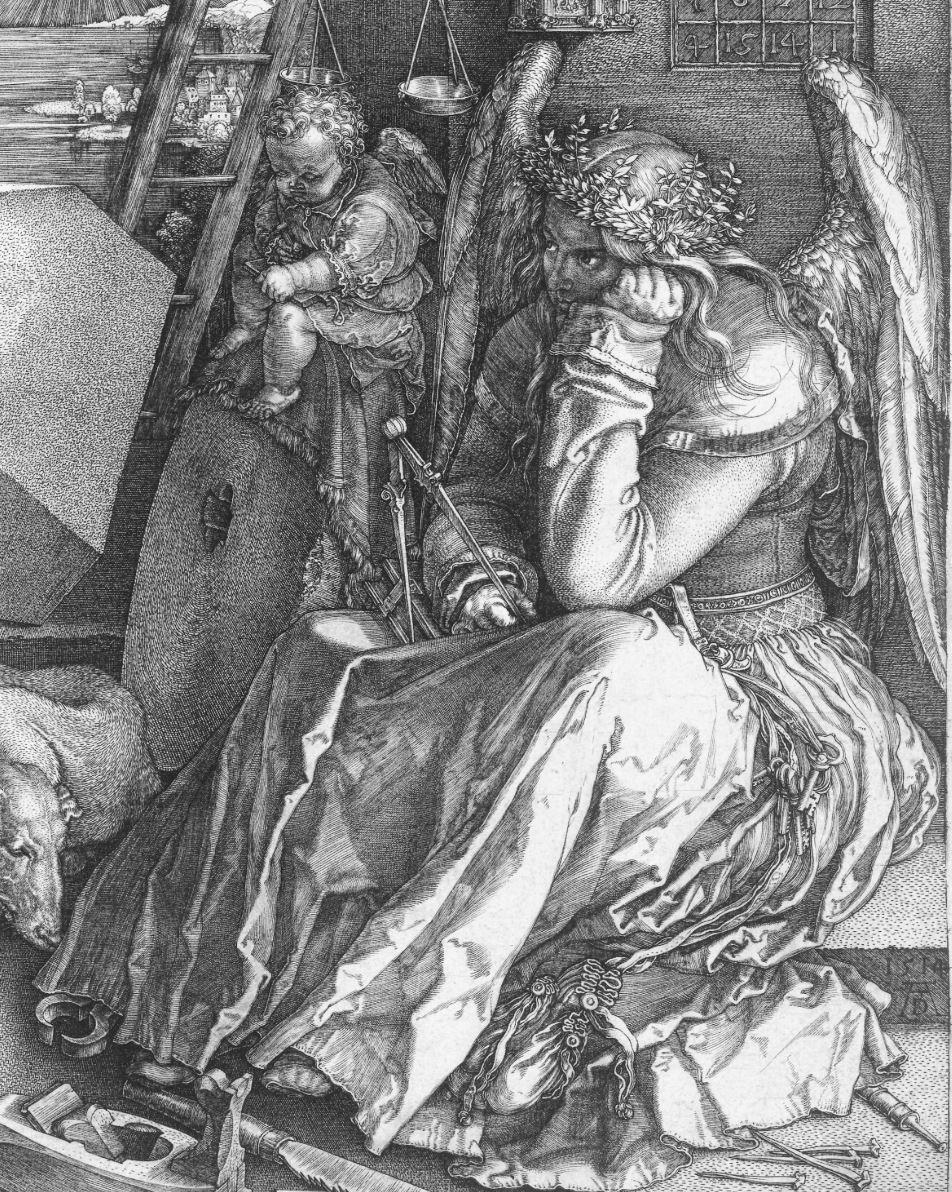 Durer 1514 Melancolie detail