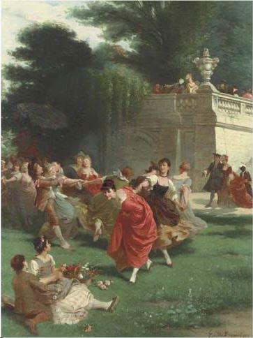 Fete champetre Emile Bayard 1878 gauche