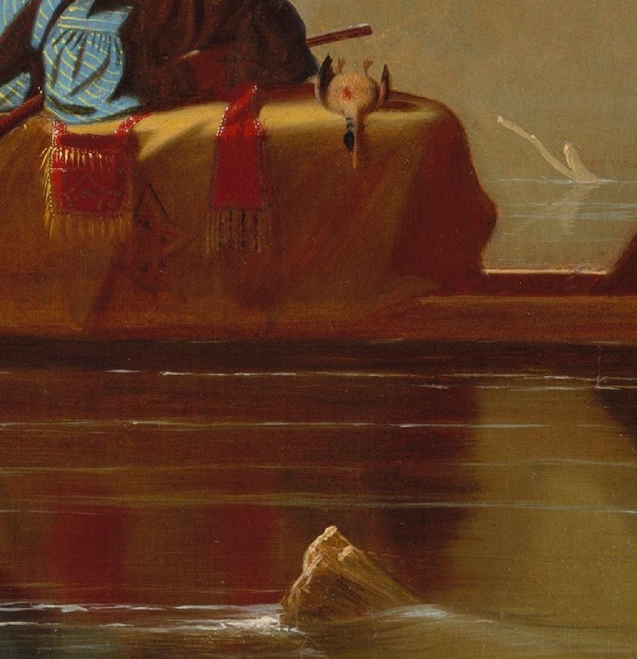 George Caleb Bingham 1845 Fur Traders Descending the Missouri MET 73.7 x 92.7 cm detail