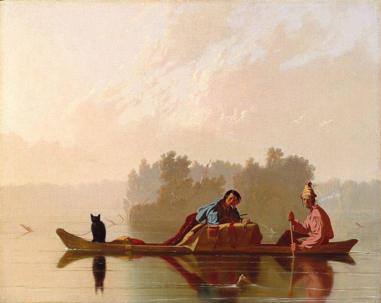 George Caleb Bingham 1845 Fur Traders Descending the Missouri MET 73.7 x 92.7 cm