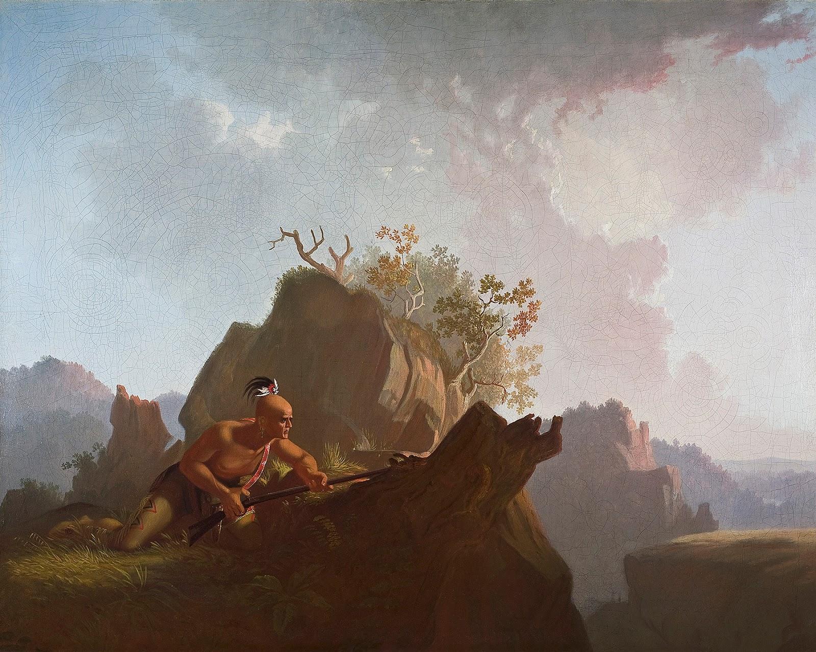 George Caleb Bingham 1845 The Concealed Enemy Stark museum of Arts Orange texas 74.3 × 92.7 cm