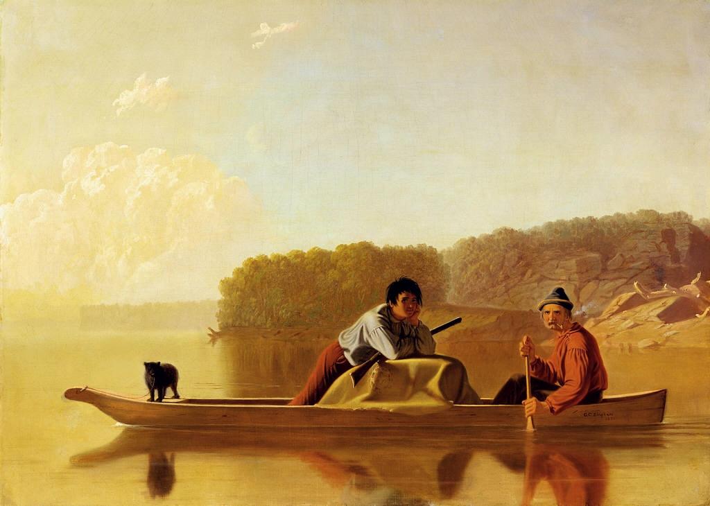 George Caleb Bingham 1851 le retour des trappeurs Detroit Institute of Arts