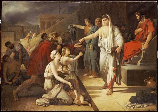 Heim 1819 Titus et Vespasien font distribuer des secours au peuple Versailles, Musee national du chateau et des Trianons-