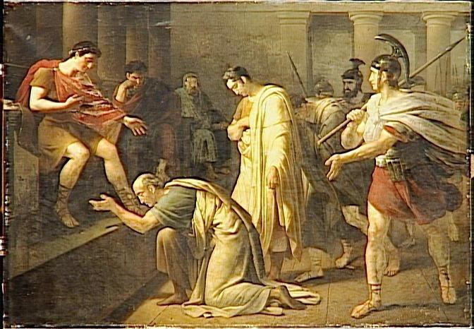 Heim 1819 Titus pardonne aux senateurs conjures Versailles, Musee national du chateau et des Trianons-